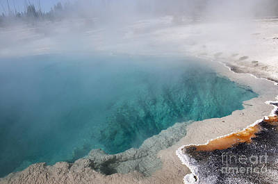 Photograph - Turquoise Geothermal Pool by Brenda Kean