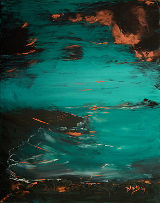 Painting - Turquoise Goodbye by Donna Blackhall