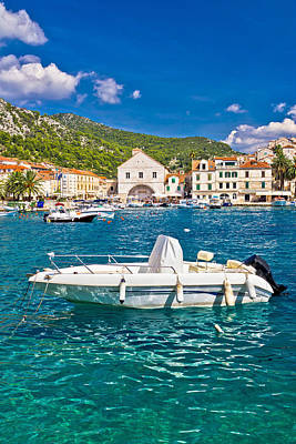 Photograph - Turquoise Hvar Island Waterfront View by Brch Photography