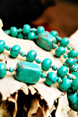 Skull Jewelry Photograph - Turquoise Jewelry by Chastity Hoff