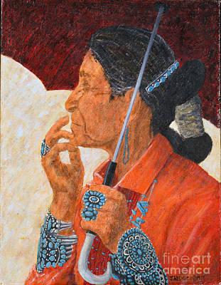 Turquoise Lady Art Print