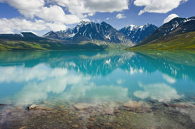 Turquoise Lake Photograph - Turquoise Lake In Lake Clark National by Michael DeYoung