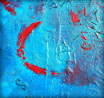 Abstractabstract Painting - Turquoise Ledge by Holly Anderson