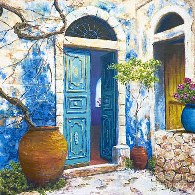 Painting - Turquoise by Miki Karni