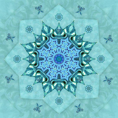 Digital Art - Turquoise Nature Mandala by Deborah Smith