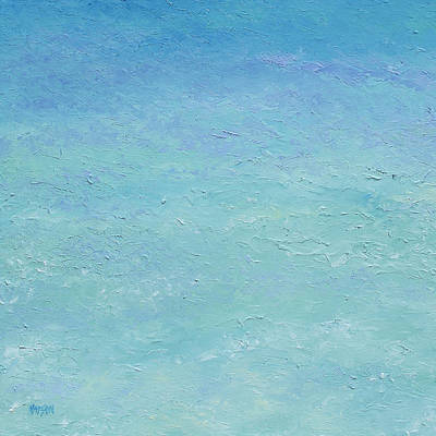 Beach House Decorating Painting - Turquoise Ocean 1 by Jan Matson