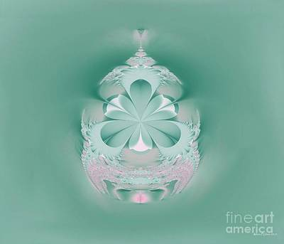 Digital Art - Turquoise Ornament by Maria Urso