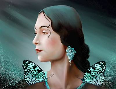 Painting - Turquoise  Poetry by S G