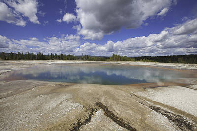 Photograph - Turquoise Pool In Yellowstone National Park by Fran Riley
