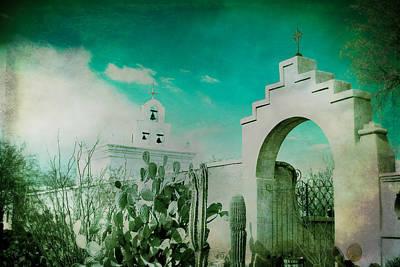San Xavier Digital Art - Turquoise Portal by Lisa Van Alstyne