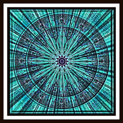 Digital Art - Turquoise Rays by Charmaine Zoe