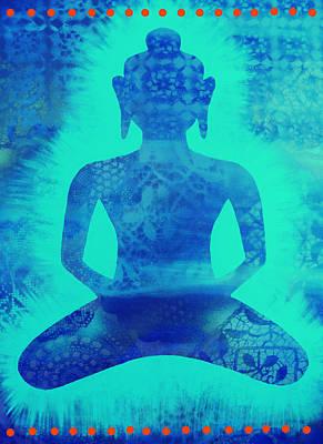 Inner World Painting - Turquoise Samadhi by Cat Athena Louise