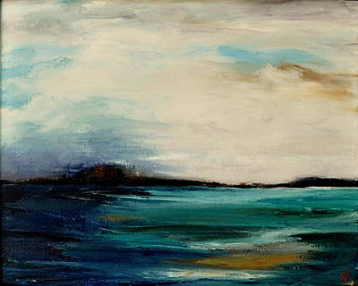 Painting - Turquoise Sea by Lindsay Frost