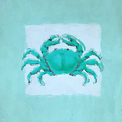 Restaurant Decor Painting - Turquoise Seashells I by Lourry Legarde