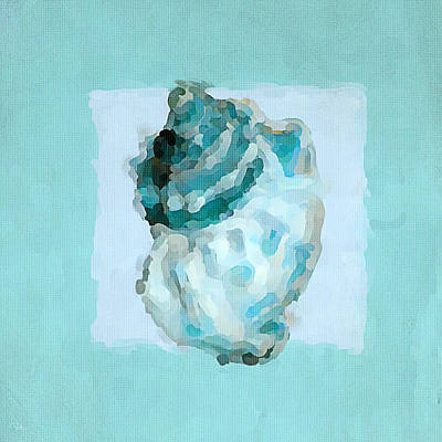 Abstract Pattern Painting - Turquoise Seashells Vi by Lourry Legarde
