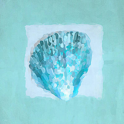 Treasured Painting - Turquoise Seashells Vii by Lourry Legarde