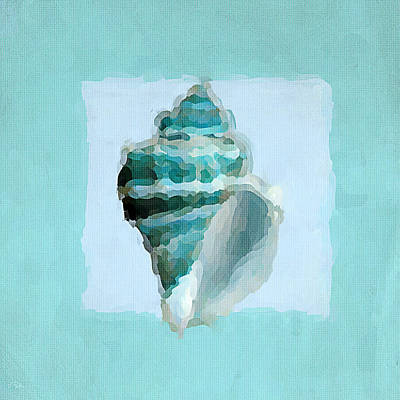 Abstract Seascape Painting - Turquoise Seashells Viii by Lourry Legarde