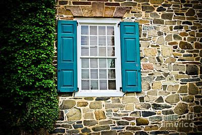 Photograph - Turquoise Shutters  by Colleen Kammerer
