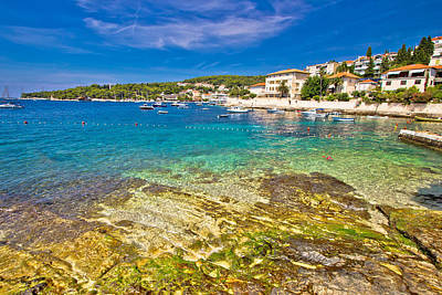 Photograph - Turquoise Stone Beach On Hvar Island by Brch Photography