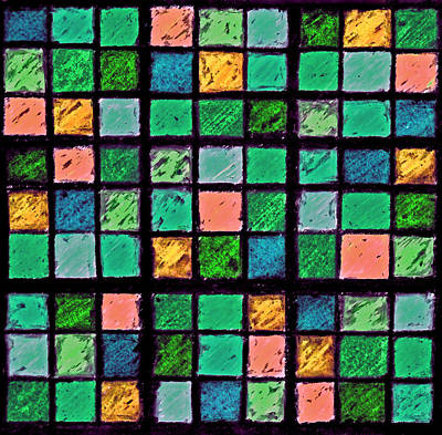Photograph - Turquoise Sudoku by Karen Adams