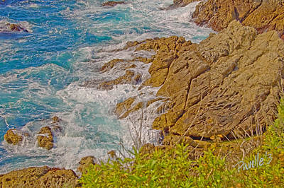 Digital Art - Turquoise Surf by Jim Pavelle