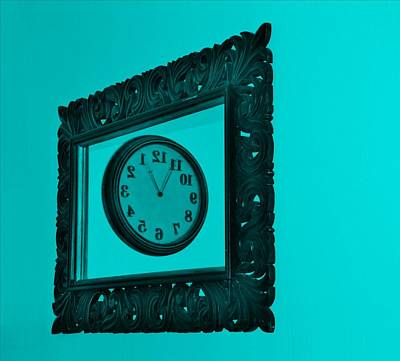 Photograph - Turquoise Time Frame by Rob Hans