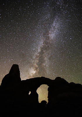 Photograph - Turret Arch And Milky Way by Jean Clark