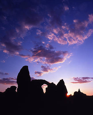 Photograph - Turret Arch Silhouette  by Ray Mathis