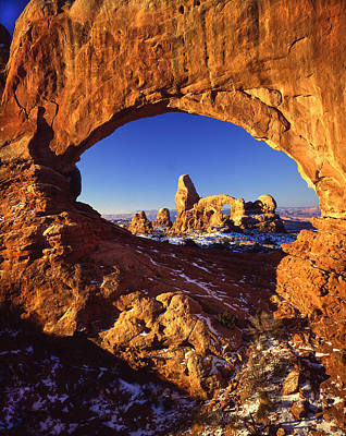 Photograph - Turret Arch Through North Window by Ray Mathis