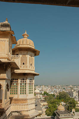 Turret, City Palace, Udaipur Art Print by Inger Hogstrom