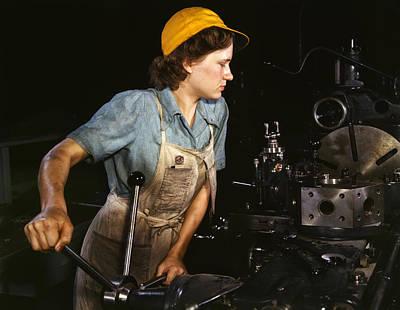 Turret Lathe Operator - 1942 Art Print by Mountain Dreams