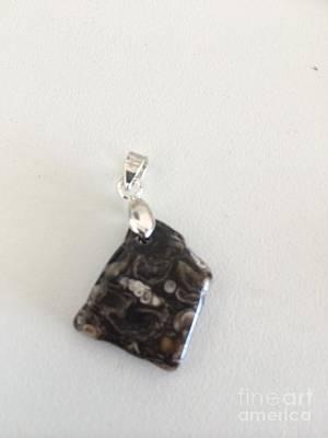 Jewelry - Turritella Agate Fossil Cabochon by Joseph Mora