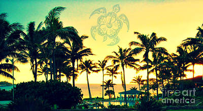 Photograph - Turtle Bay Hawaii Sunset by Mindy Bench