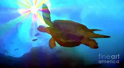 Green Sea Turtle Painting - Turtle by Chris Butler