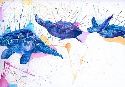 Turtle Flight Original by Hannah Circenis