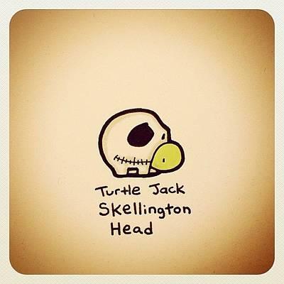 Reptiles Wall Art - Photograph - Turtle Jack Skellington Head by Turtle Wayne