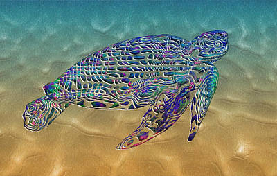 Painted Turtle Wall Art - Painting - Turtle by Jack Zulli