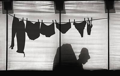 Underwear Photograph - Turtle Lady Sunbathing In Her Backyard by Yvette Depaepe