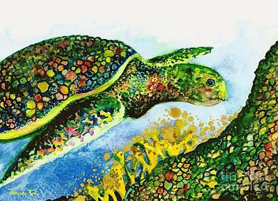 Painting - Turtle Love by Frances Ku