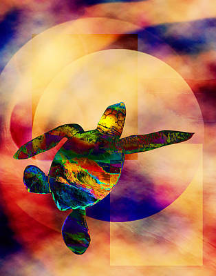 Digital Art - Turtle Medicine by Bruce Manaka