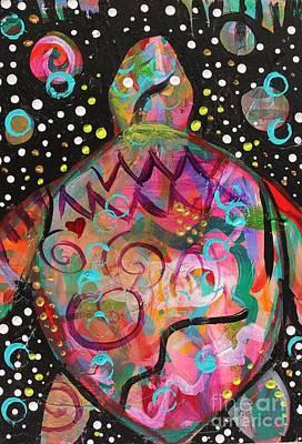 Turtle Medicine Art Print by Kim Heil