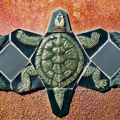 Reptiles Photograph - Turtle Mosaic by Carol Leigh