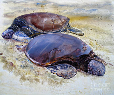 Painting - Turtle R And R by Louise Peardon