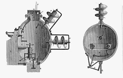 Independence Mine Photograph - Turtle Submarine by Universal History Archive/uig