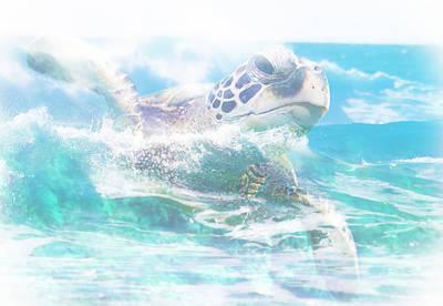 Photograph - Turtle Surf by Athena Mckinzie