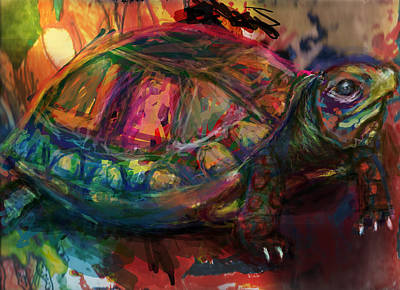 Crocodile Digital Art - Turtle Time by James Thomas