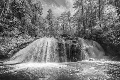 White And Black Waterfalls Photograph - Turtletown Creek In Black And White by Debra and Dave Vanderlaan
