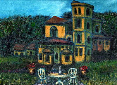 Italian Wine Painting - Tuscan Abby by Deb Wolf