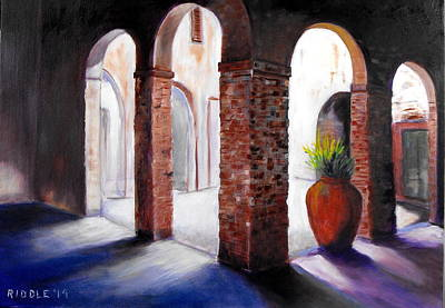 Painting - Tuscan Arches  by Jack Riddle