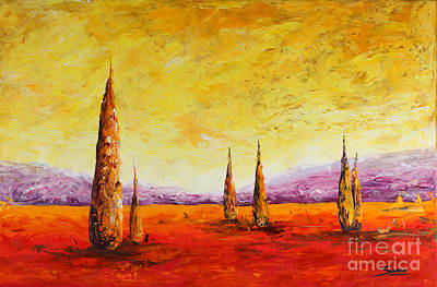 Tuscan Hills Painting - Tuscan Blast by Andrew Sanan